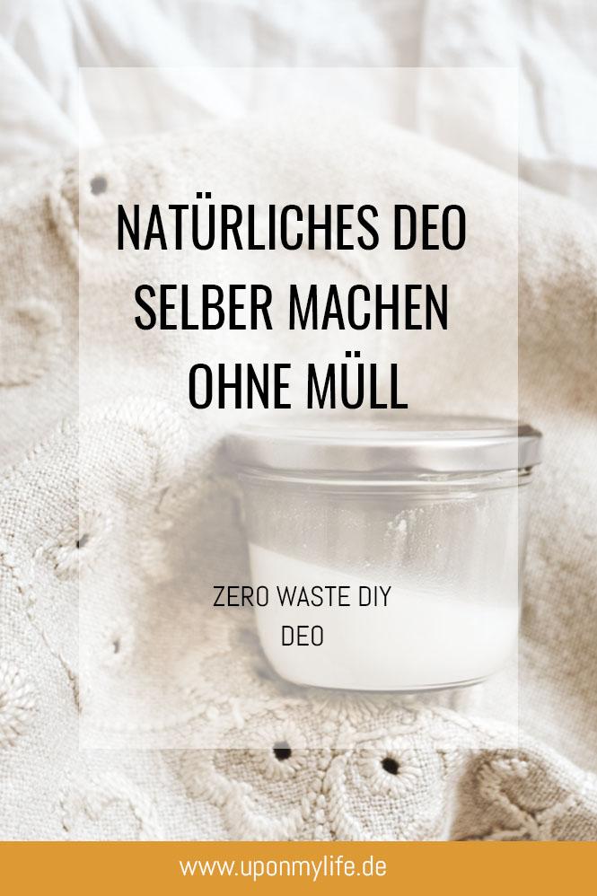 Natürliches Deo selber machen ohne Müll