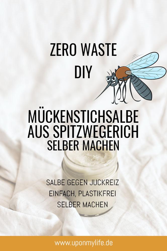 Mückenstichsalbe aus Spitzwegerich machen
