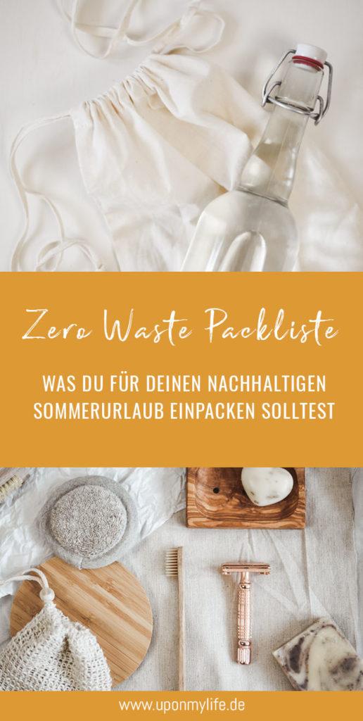 Nachhaltige Packliste Zero Waste