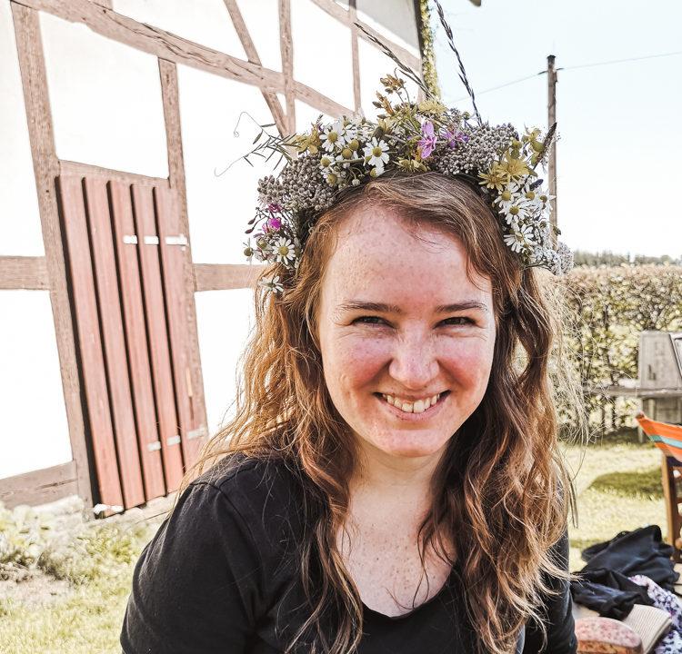Zero Waste DIY Spätsommerlicher Blumenkranz selber binden