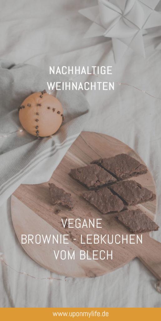 Schnelle Vegane Brownie - Lebkuchen vom Blech