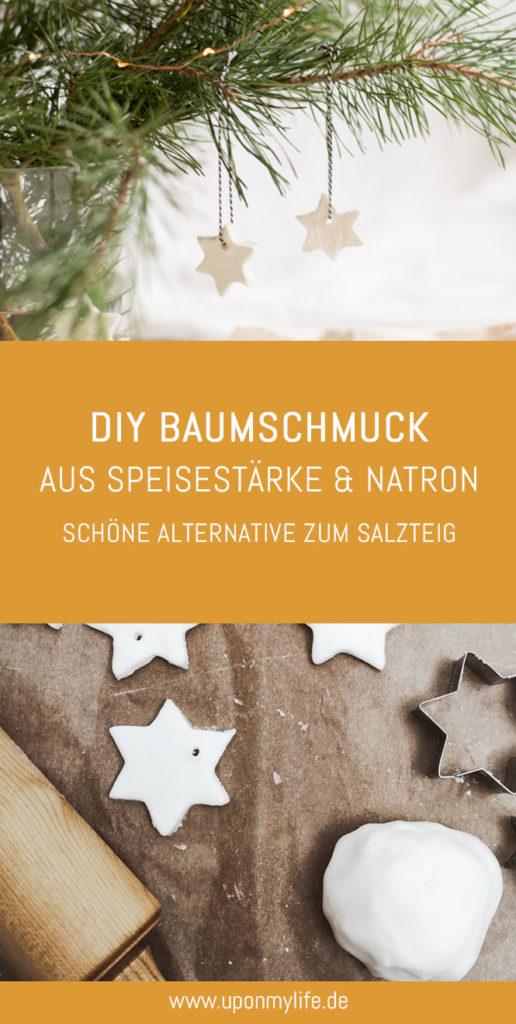 In dieser DIY-Anleitung zeige ich euch, wie man schöne Anhänger oder Baumschmuck aus Speisestärke und Natron selber machen kann. DIY Weihnachtsbaumschmuck