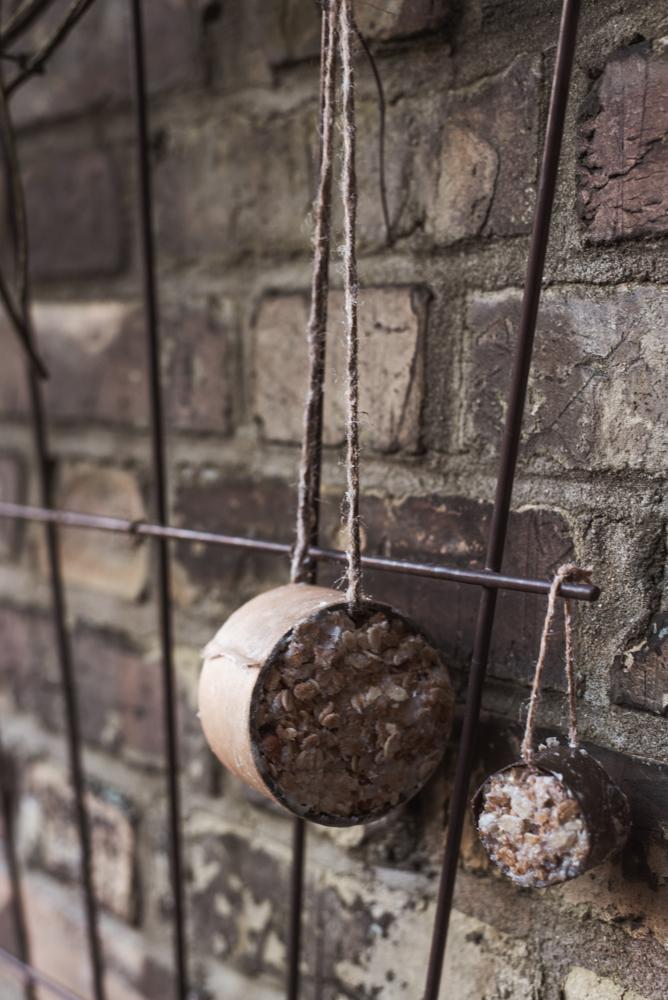 3 Upcycling Zero Waste DIYs: Einfache Vogelfutter-Stationen selber machen ist nicht schwer - Vogelfutter unverpackt einkaufen, Stationen basteln. Fertig #diy #upcycling #winter #zerowaste