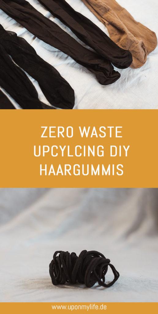 Zero Waste Haargummis? 5 Ideen + Upcycling DIY Haargummis selber machen ist total einfach. Die DIY Anleitung und 5 Ideen für nachhaltige Haargummis. #diy #zerowaste #upcycling