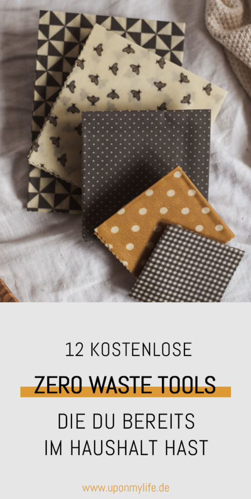 Zero Waste ist nicht teuer: 12 Ideen, die fast nichts kosten zeige ich dir. Einfache Less Waste Alternativen, Omas Gegenstände und Upcycling DIY Ideen. #zerowaste #tools #lesswaste