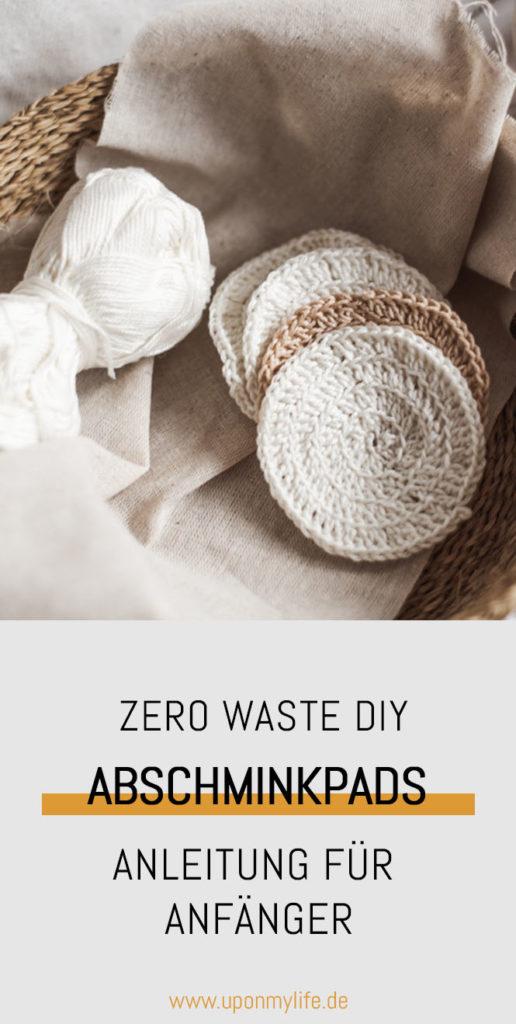 Zero Waste DIY: Wiederverwendbare Abschminkpads selber häkeln ist total einfach. Selbst blutige Anfänger erlernen das mit meiner Häkelmethode schnell. #zerowaste #diy #abschminkpads #bad