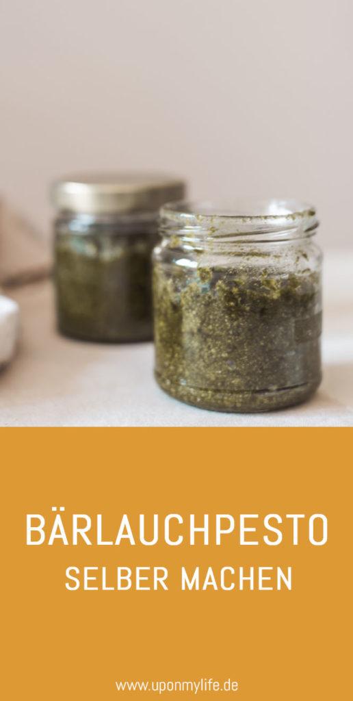 Bärlauchpesto selber machen ist super easy. Püriert den frisch gepflückten Bärlauch mit Öl, Salz und Kernen. Genießt das frische Pesto mit Pasta. #bärlauch #rezept #frühling