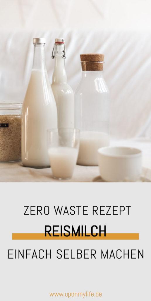 Zero Waste DIY: Reismilch einfach und günstig selber machen aus wenigen Zutaten und ohne viel Arbeit könnt ihr Reismilch ganz einfach selber machen #diy #zerowaste #nachhaltigkeit