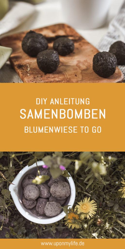 Nachhaltiges DIY: Samenbomben selber machen, damit du Wildbienen und Insekten ein Zuhause geben kannst - auch in der Stadt. Aus 3 Zutaten Saatbomben machen. #diy #samenbomben #saatbomben