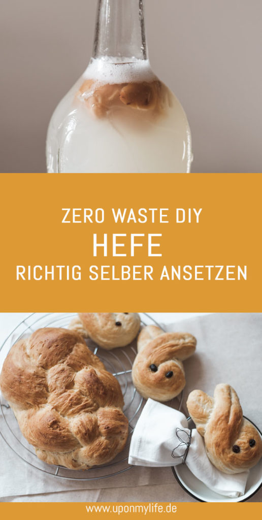 Zero Waste DIY Hefewasser: Hefe selber machen - aus diesen drei Zutaten, meinen Tipps und etwas Geduld könnt ihr Hefe selber machen #hefe #hefewasser #diy