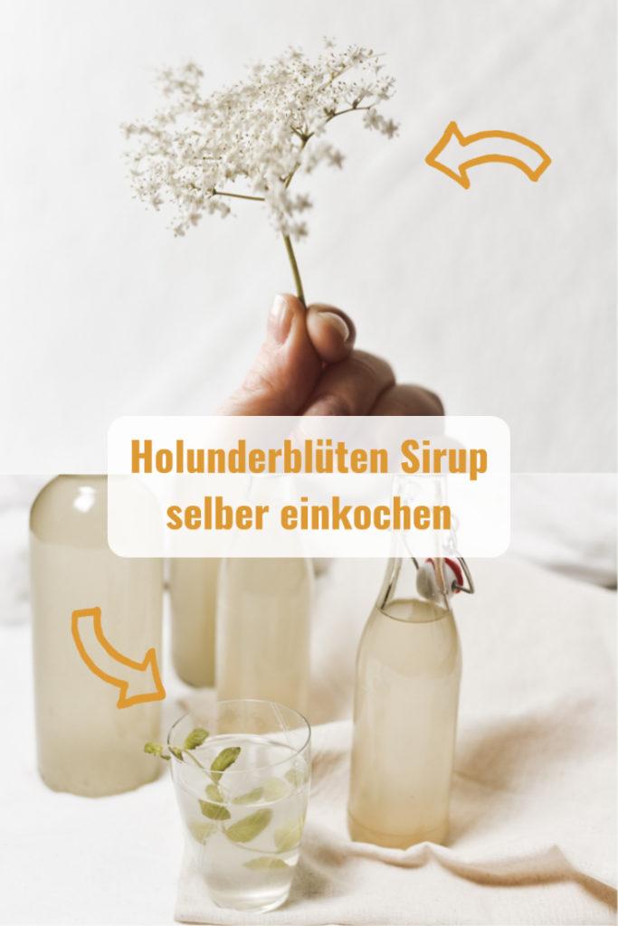 Holunderblüten kannst du bei Erkältungen und Husten als Tee und Sirup einnehmen. Ich zeige dir wie ich den Sirup einfach und günstig zubereite. #diy #nachhaltigkeit #selbstversorger #garten