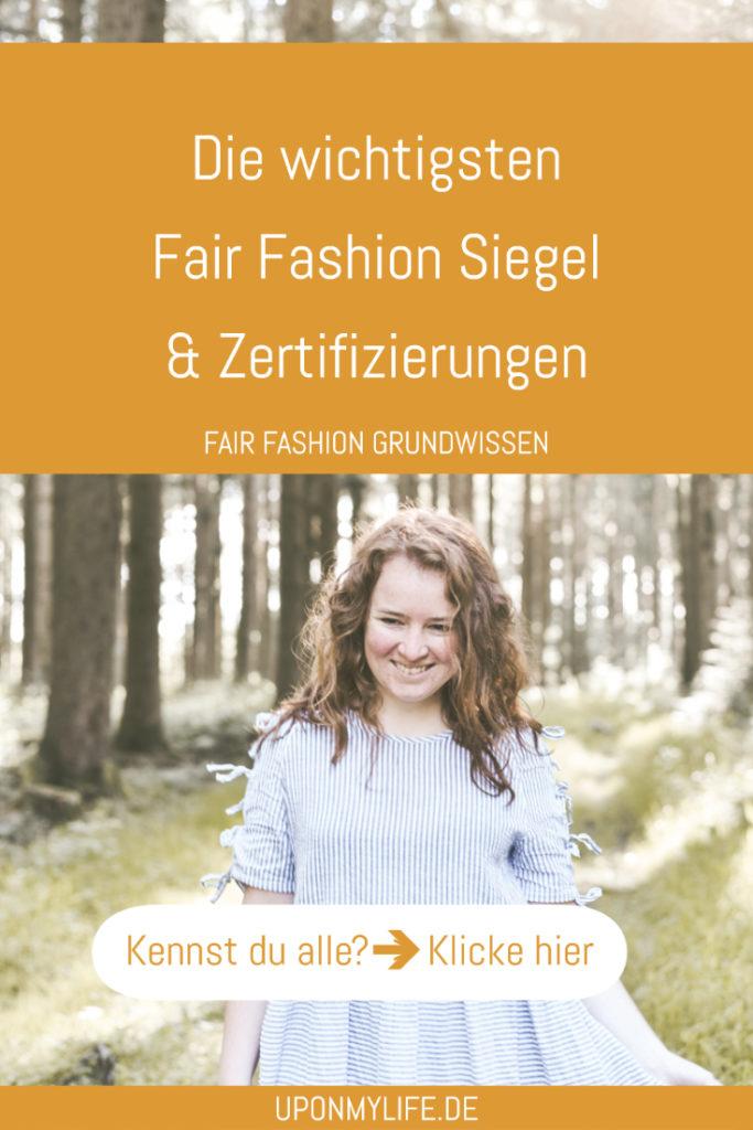 Weißt du auf welche Siegel und Zeritfizierungen du bei Fair Fashion achten solltest? Ich habe dir die wichtigsten 13 Siegel zusammengefasst und erklärt. #fairfashion #siegel #guide