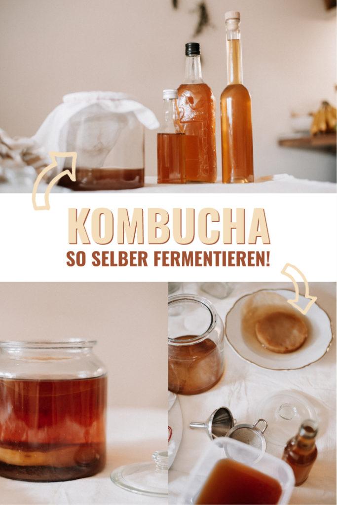 Kombucha selber machen - mit dieser einfachen Anleitung gelingt es euch Tee in leckeren Kombucha zu verwandeln - alles was du wissen musst!