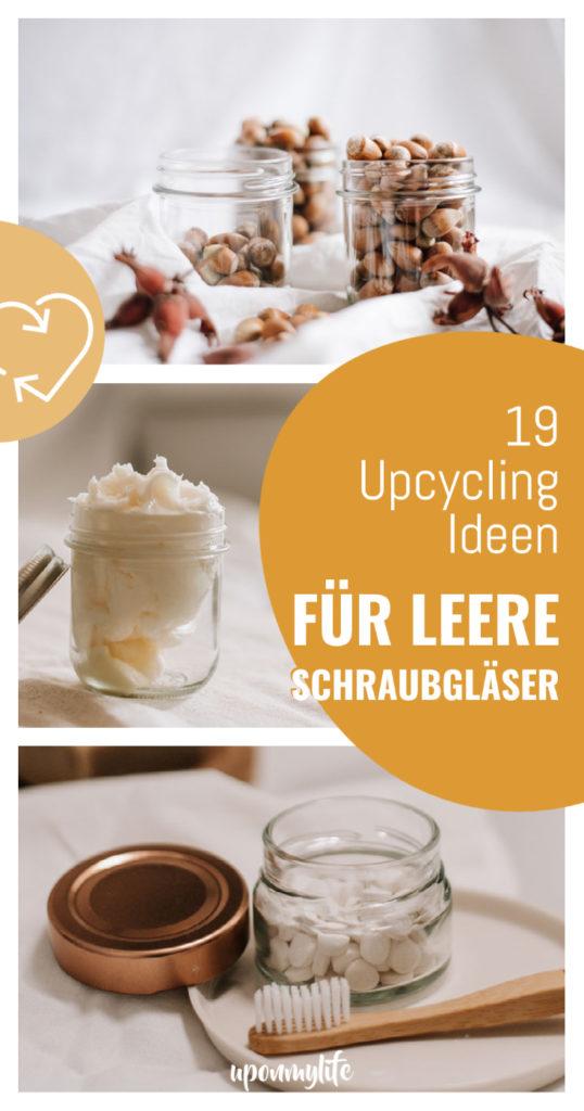 19 Upcycling-DIY Ideen für leere Schraubgläser - Wie ihr eure leeren Marmeladengläser weiterverwenden, upcyceln und kreativ nutzen könnt. #zerowaste #upcycling #diy