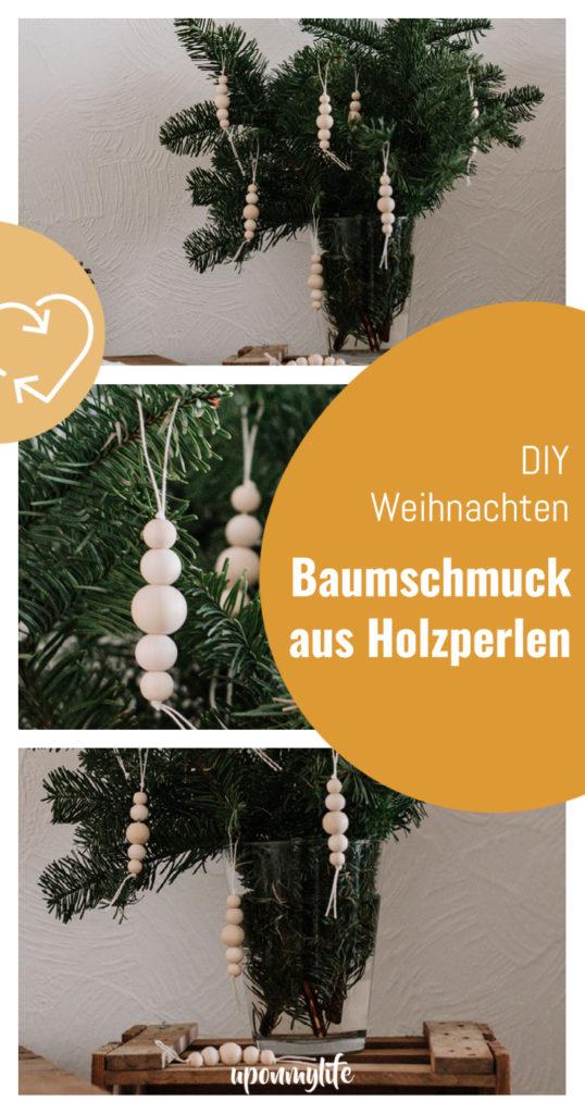 Zero Waste DIY Weihnachtsbaumschmuck aus Holzperlen. Anleitung für euren nachhaltigen Weihnachtsbaum und eure plastikfreie DIY Dekoration