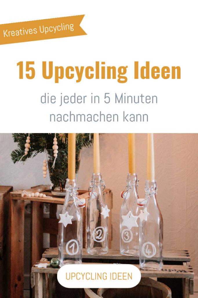 15 Upcycling Ideen, die jeder in 5 Minuten nachmachen kann: Windlichter, Orangenreiniger, Einkaufstaschen, Haargummis, Weihnachtsdeko uvm.