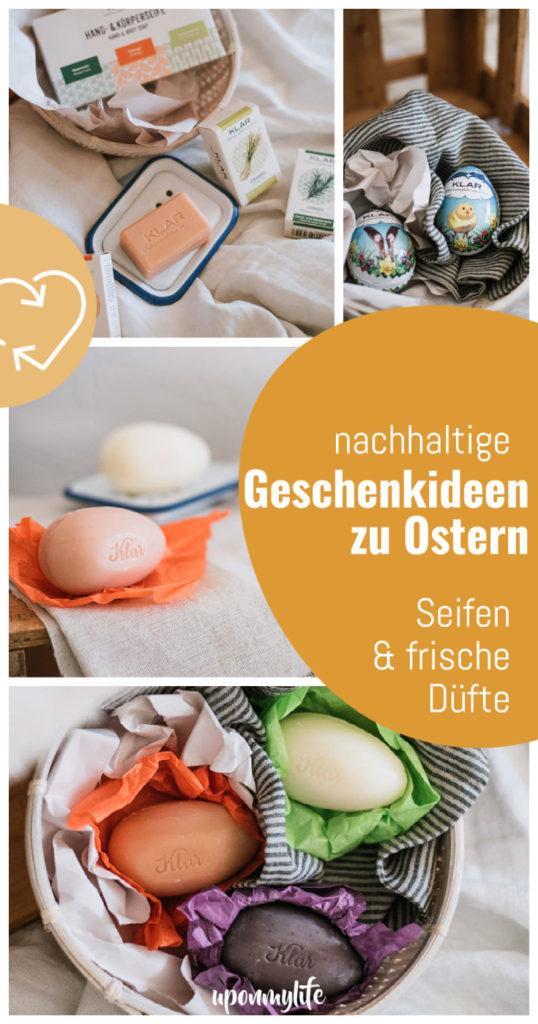 Geschenkideen zu Ostern: Seifen und frische Düfte für den Frühling. Verschenkt nachhaltige, sinnvolle Geschenke zu Ostern! Seifen von @klarseifen