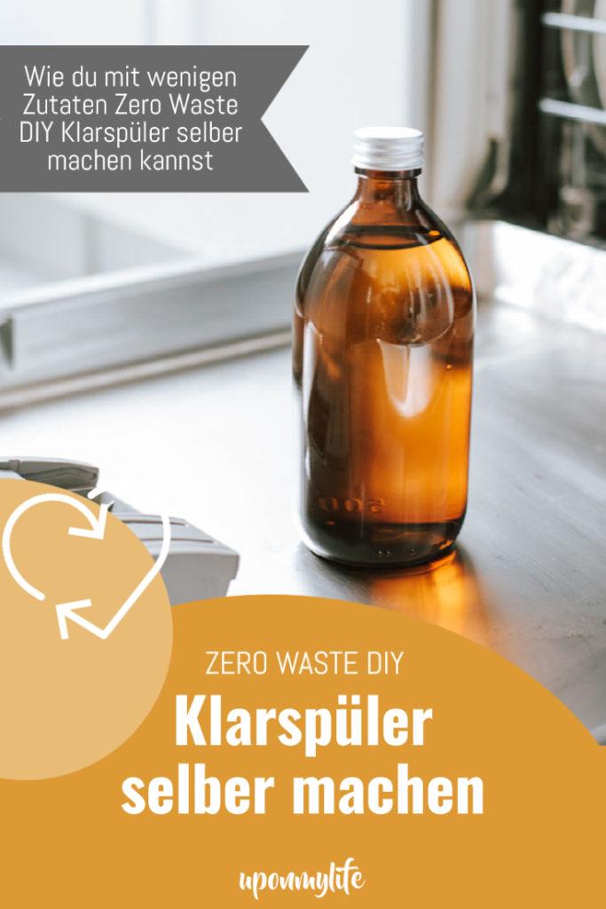 Wie du mit nur drei Zutaten den DIY Klarspüler für deine Geschirrspülmaschine ganz einfach und Zero Waste selber machen kannst? Zur Anleitung